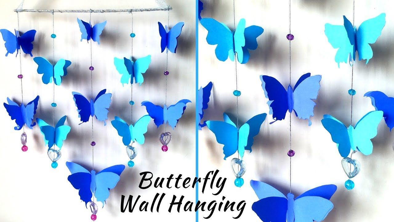 Diy Paper Butterfly Wall Hanging Butterflyparty Butterfly
