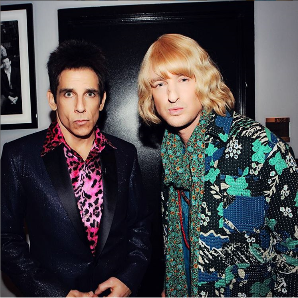 Derek Zoolander backstage at SNL with Hansel zoolander2