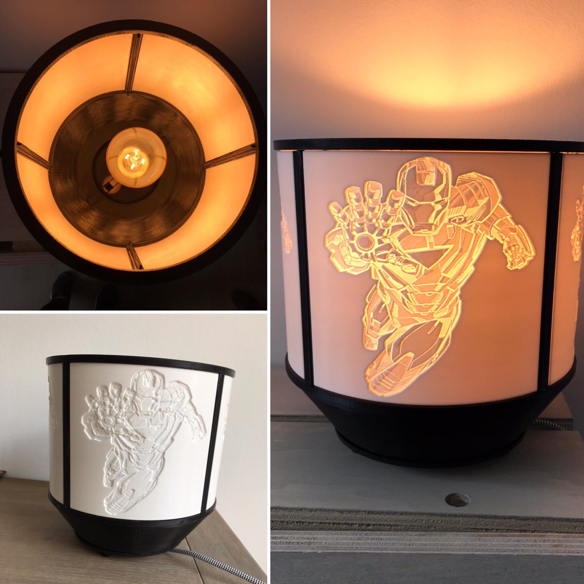 Iron Man Lithophane Lampshade Lamp Lamp Shade Prints