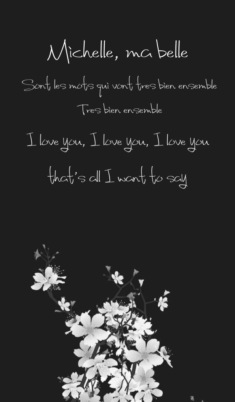 Iphone Wallpaper Of Lyrics To The Famous Beatles Song Michelle