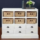 Found It At Wayfair Nantucket 6 Drawer And 6 Basket Storage Cabinet With Images Storage Baskets Storage Cabinet With Baskets White Storage Cabinets