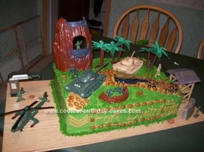 Coolest Army Scene Birthday Cake Birthday cakes Army and Scene