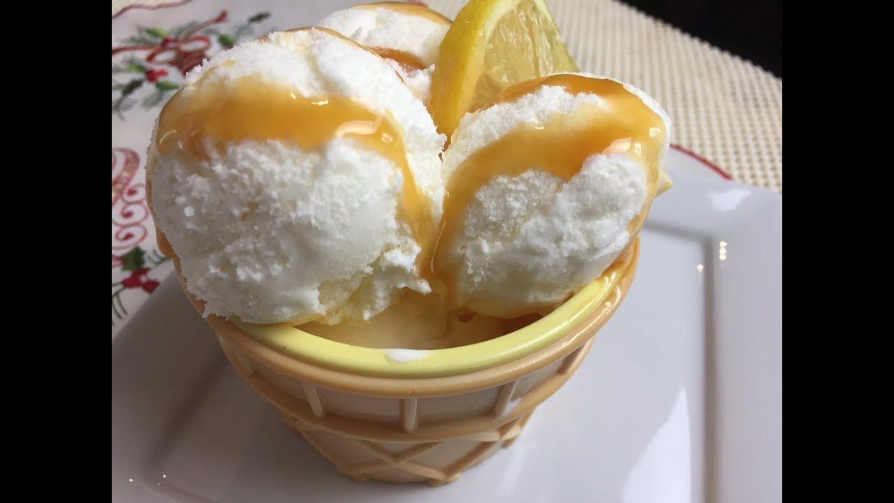 كريبوني كريمي جد منعش مثلجات بذوق الليمون Creponet Ou Sorbet Au Citron Cremeux Youtube Sorbet Cremeux Desserts