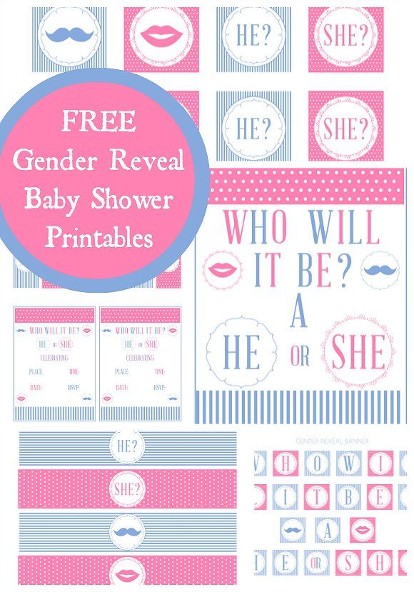 graphic regarding Gender Reveal Printable named Totally free gender demonstrate kid shower printables! #genderreveal