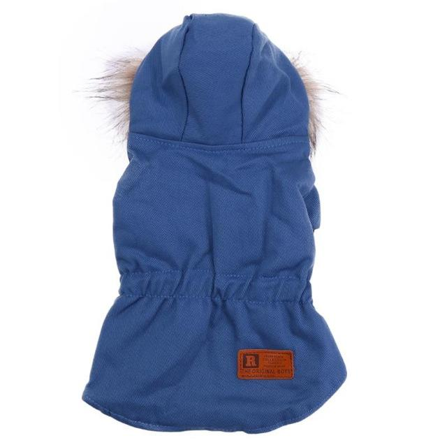 Warm Hooded Down Dog Jacket Red Hooded Jacket Jackets