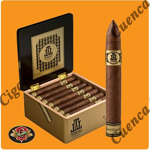 Trinidad Santiago Belicoso Cigars - Dark Box of 20 - Best Online prices Trinidad Santiago Belicoso Cigars - Dark Box of 20 at Cuenca Cigars. Shop Trinidad Cigars receive FREE SHIPPING on orders over $199. Latest addition to the acclaimed Trinidad Cigars line. Using a Habano Dominicano as wrapper, binders and fillers this medium to full Toro with ..Price: $176.50