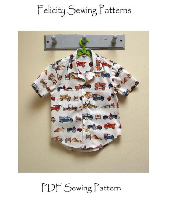 The Thomas Shirt pdf sewing pattern for boys and girls 2 to 14 years ...