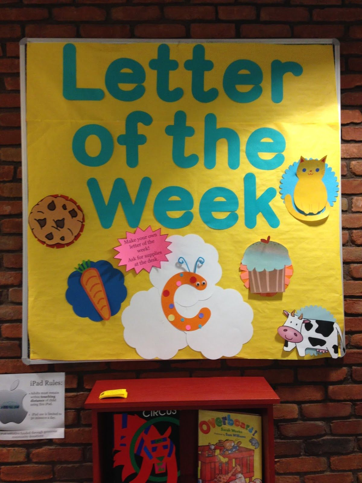 Early Literacy Center Letter Of The Week