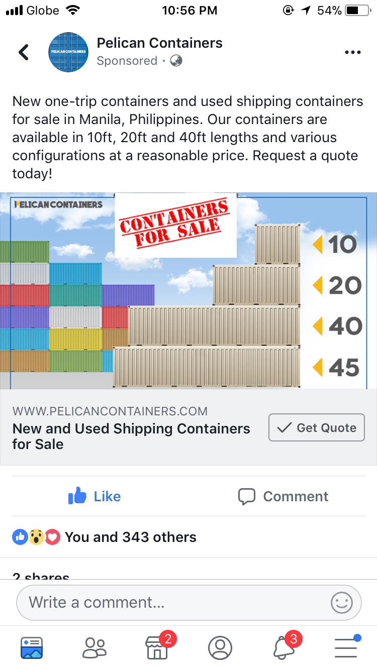 Pin By Phoebe Bagara On Local Sources Ph Shipping Containers For Sale Used Shipping Containers Containers For Sale