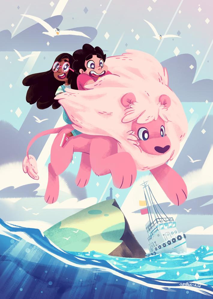 Lion S Ocean By Space Kid On Deviantart Steven Universe Wallpaper Steven Universe Fanart Lion Steven Universe