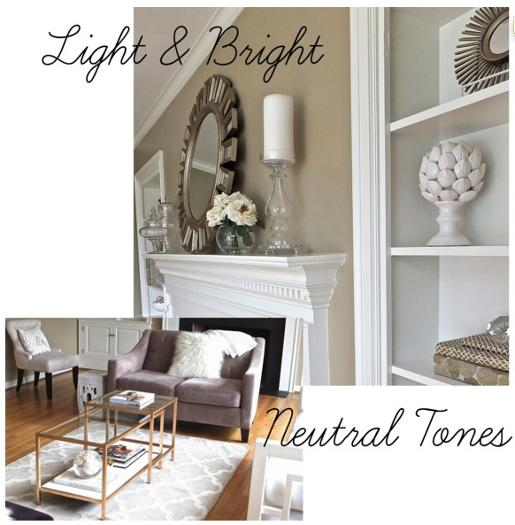 Light & Bright - Decorating with Neutral Tones. { I just snagged ...