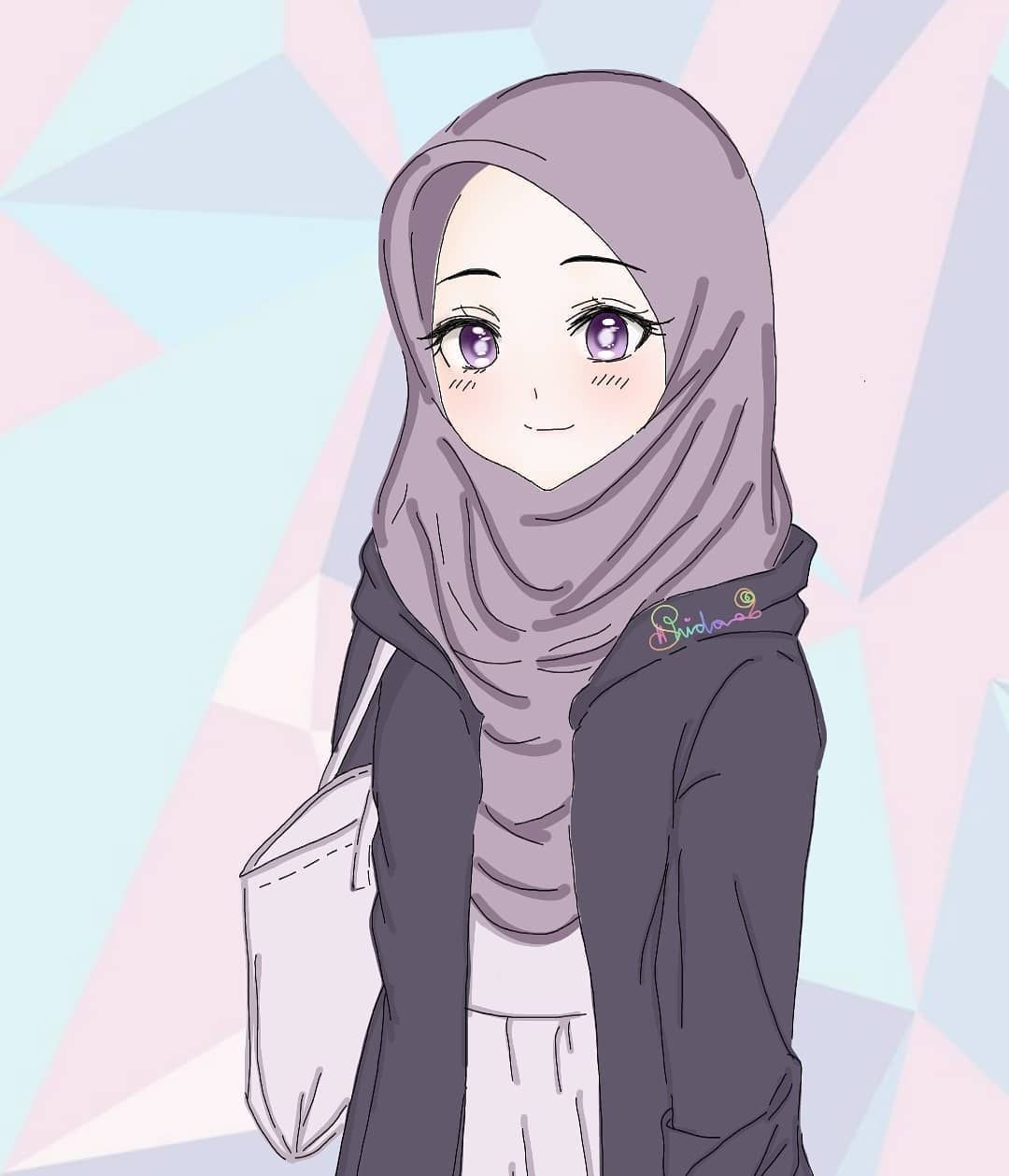 Images And Pictures About Muslimahanime At Instagram By Picbon Ilustrasi Karakter Seni Islamis Gadis Animasi