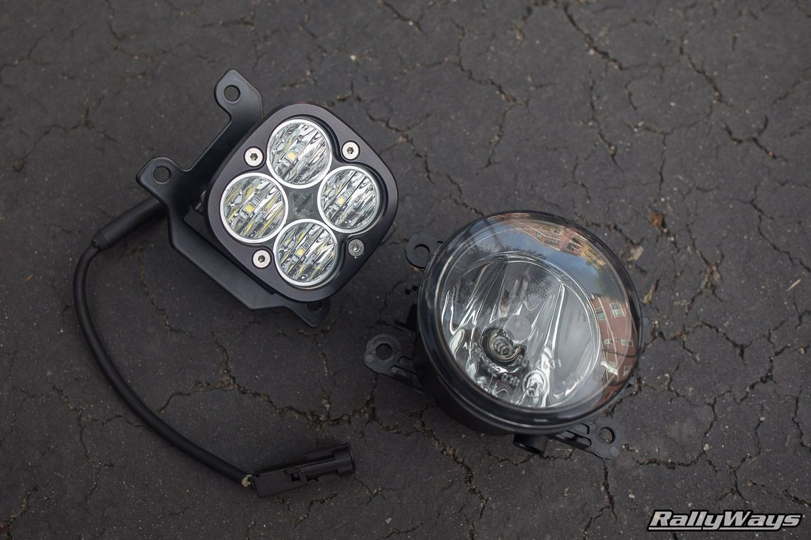 medium resolution of fiesta st stock fog light vs baja designs squadron pro rallyways