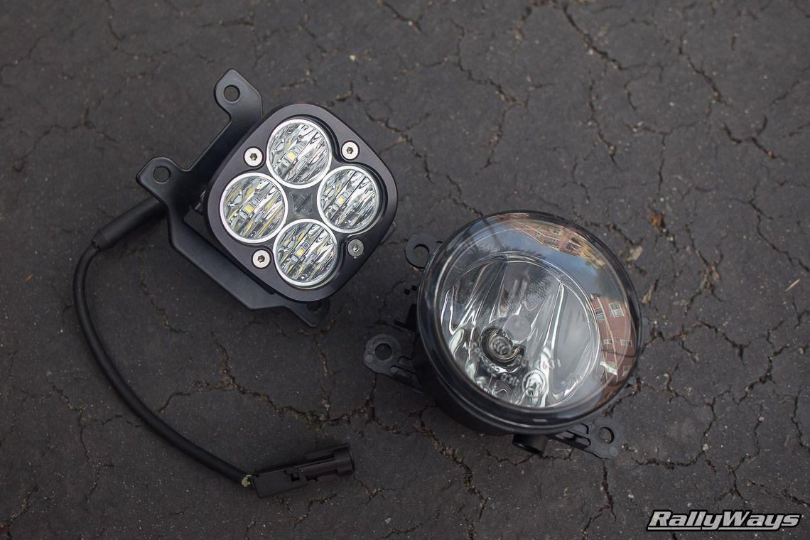 Fiesta ST Stock Fog Light vs Baja Designs Squadron Pro. #RallyWays