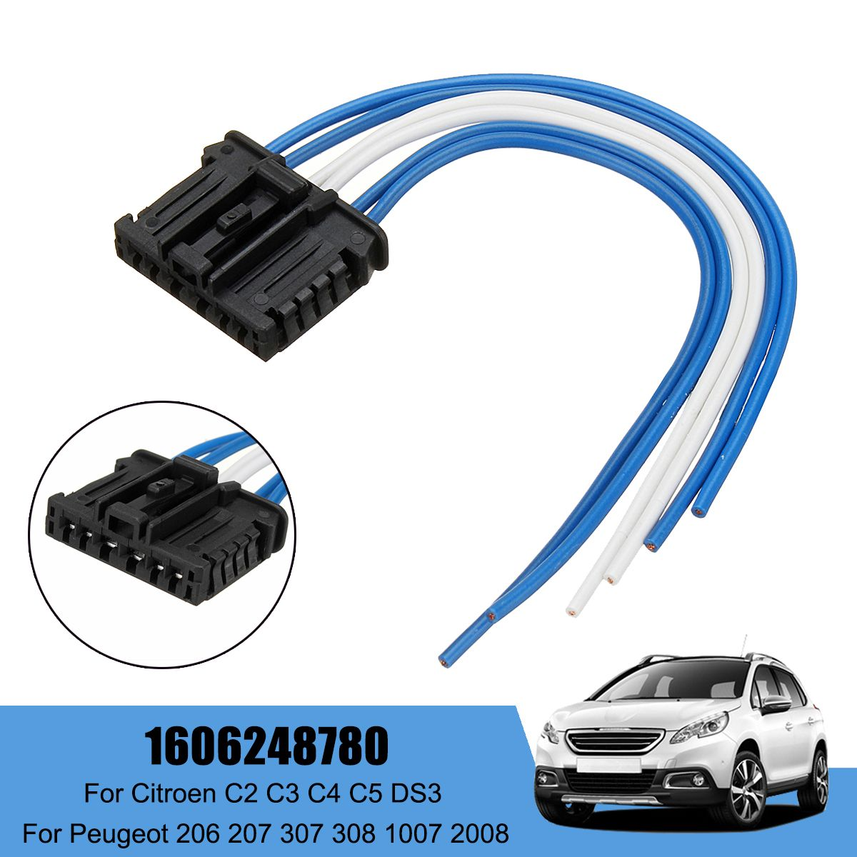 Awe Inspiring Rear Tail Light Loom Wiring Harness Connector For Peugeot 206 207 Wiring Digital Resources Funapmognl
