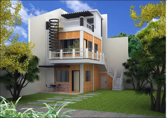 House Design With Rooftop Philippines In 2020 3 Storey House Design 2 Storey House Design Modern House Plans