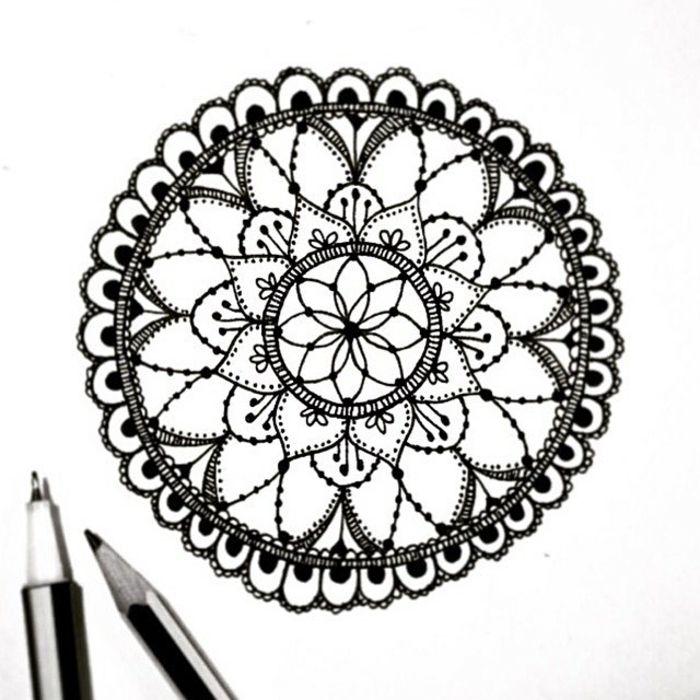 Extrêmement ▷ 1001+ idées et techniques pour faire un mandala | Papier blanc  JP78
