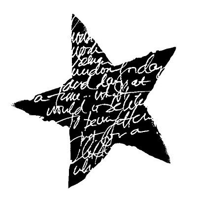 Stampington & Company - Cling Mounted Rubber Stamp by Dina Wakley - Script Star