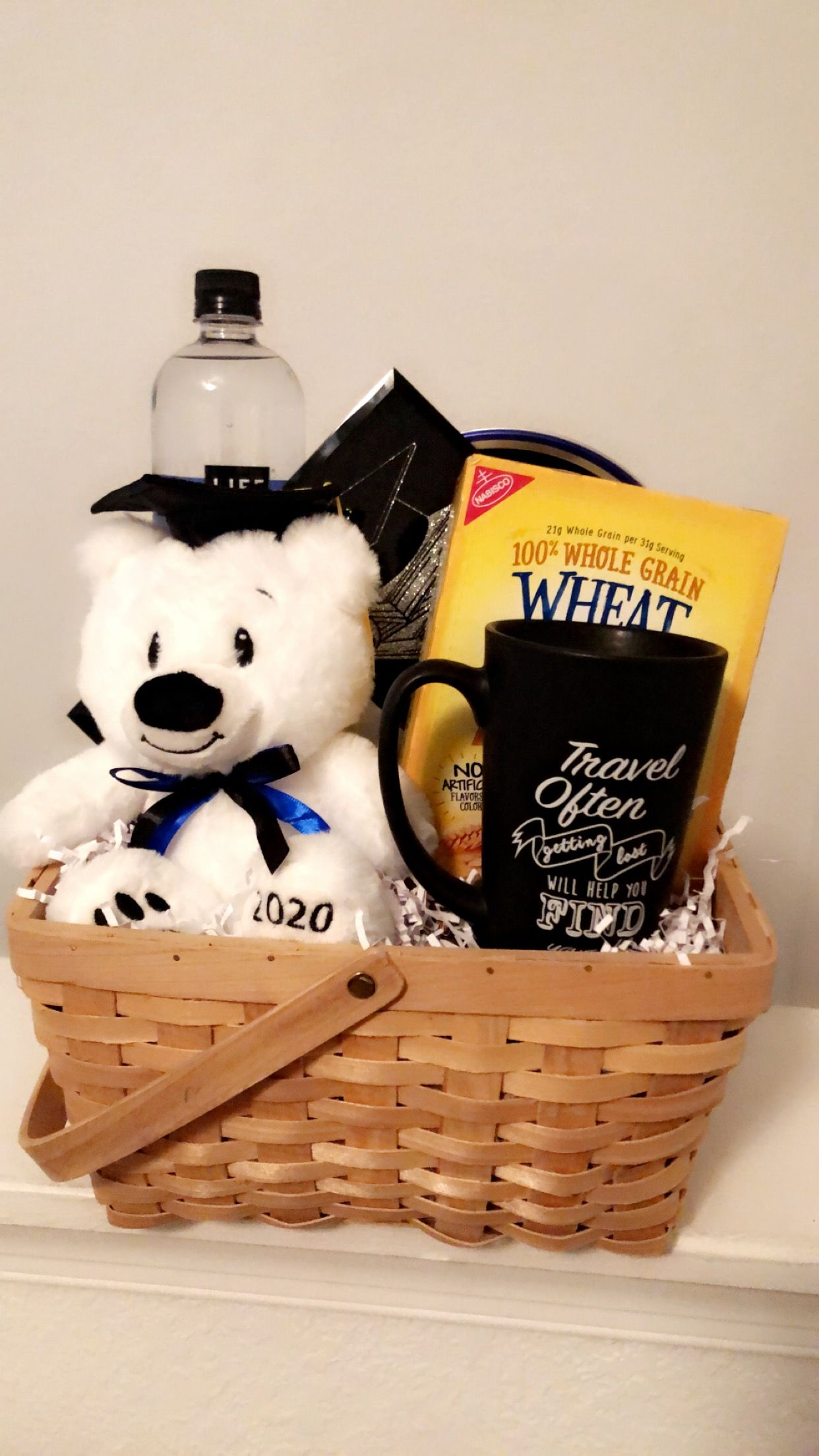 Graduation bear gift basket for 2020 graduates picture