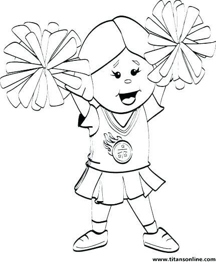 Cheerleading Megaphone Coloring Pages Coloring Pages Cheerleader
