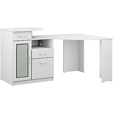 bush furniture vantage corner desk pure white hm66115a 03k rh pinterest com