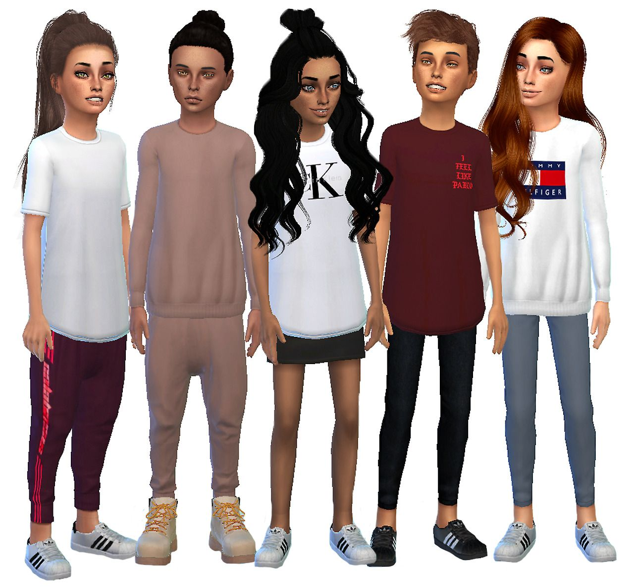 800 Followers Gift Kids Streetwear Collection Sims