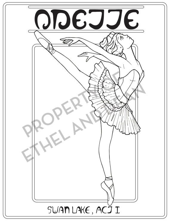 Odette Coloring Page Download By Ethelanddean On Etsy 0 99