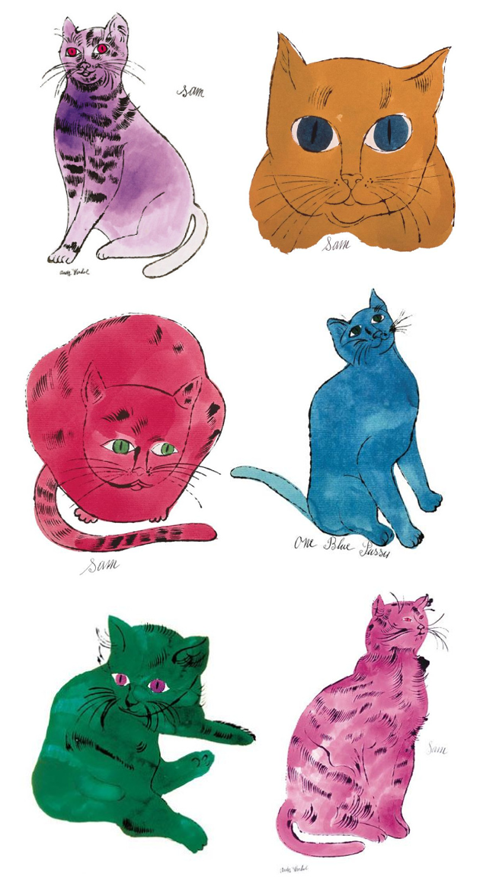 inspiration andy warhol's cats Andy warhol art, Andy