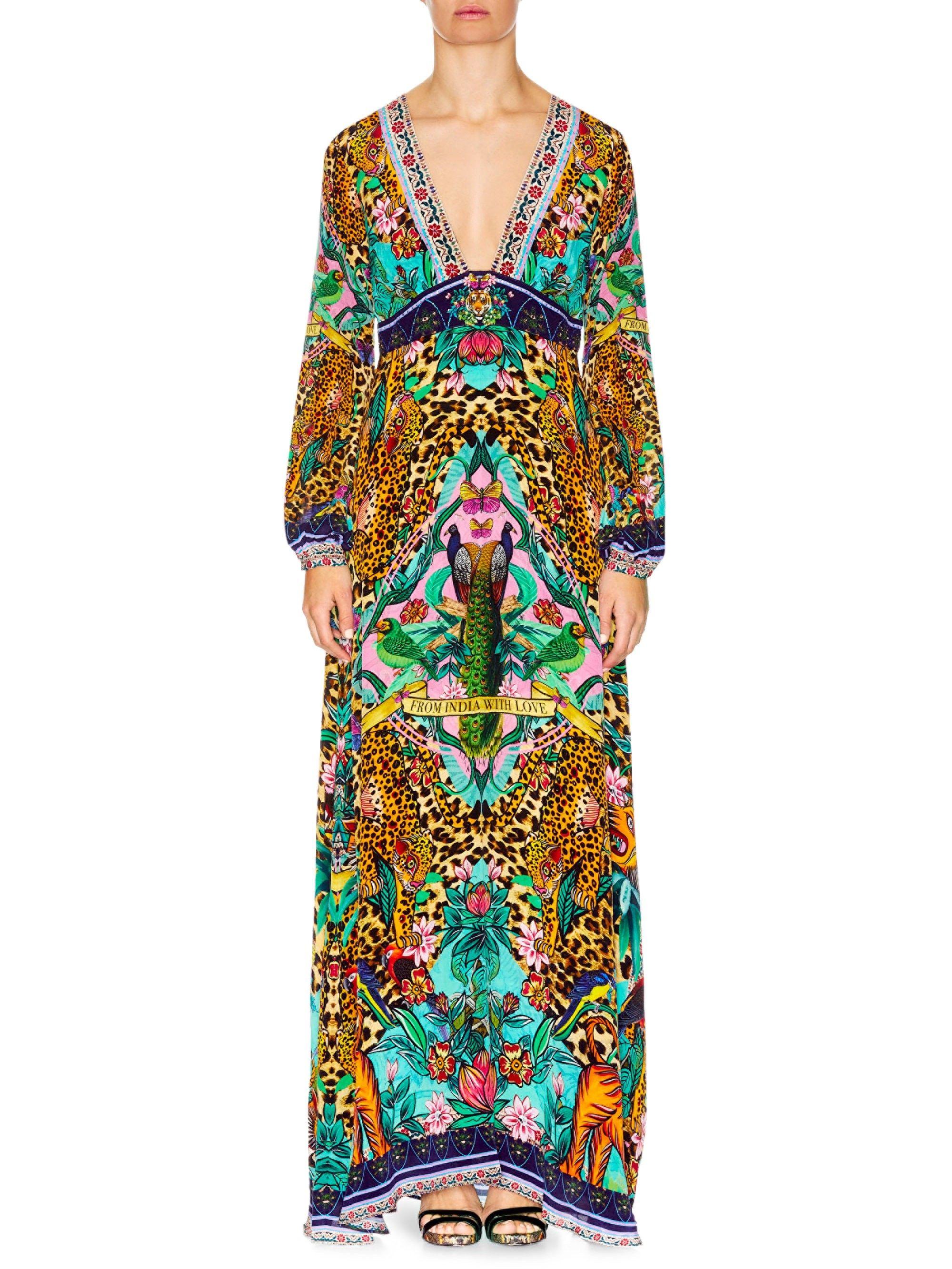 Camilla bell sleeve maxi dress the jungle book xsmall pinterest