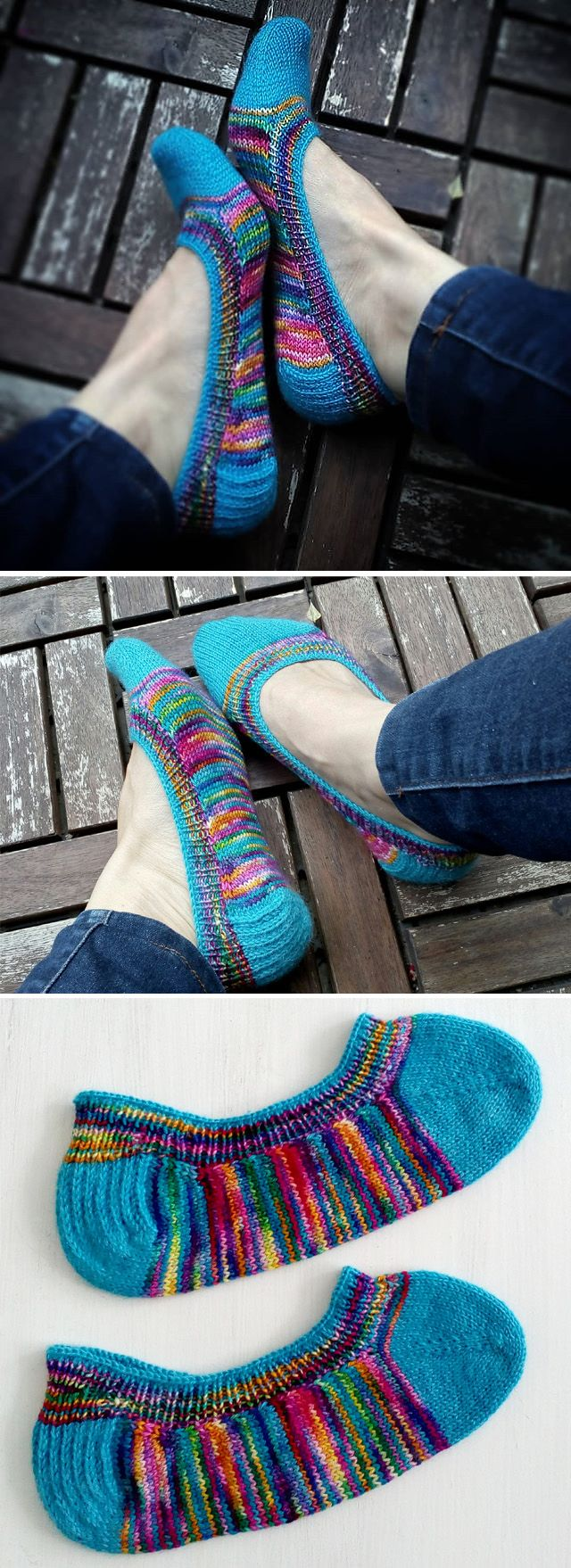 Skimmer Socks Revisited - Free Pattern #knittinginspiration