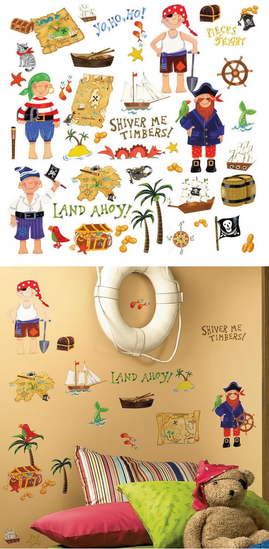 Piraten Wandtattoo | Wandgestaltung Piraten Kinderzimmer ...