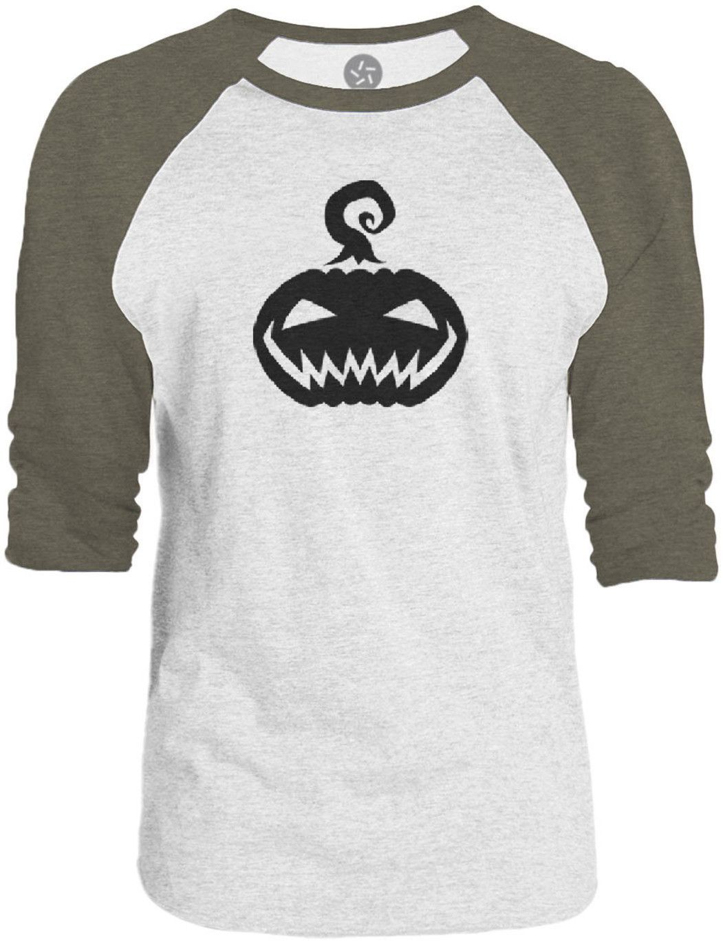 Big Texas Jack OLantern (Black) 3/4-Sleeve Raglan Baseball T-Shirt