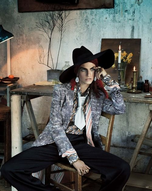 """Karlina Caune By Giampaolo Sgura For Vogue Germany May 2013 """"Folk Dandy"""""""