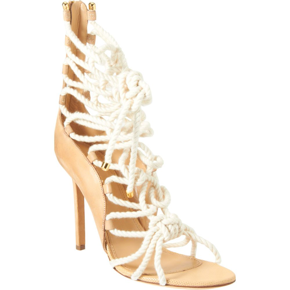 Sergio Rossi Lace-Up Rope Sandals clearance under $60 mxCFjOW