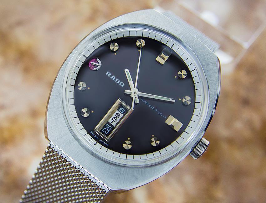 7eb3c5602a Vintage Rado Marco Polo Edelstahl Automatik Schweizer Uhr Herren c1960s  EB126 #geschenkideen #uhren #schmuck #haus #home