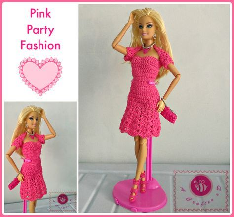 crochet fashion doll dress - free pattern | barbie | Pinterest ...