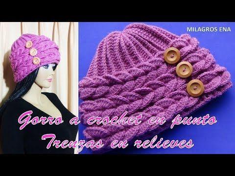 Gorro Espiral con Flor tejido a crochet con indicaciones para cualquier  edad - YouTube 96e527662c0