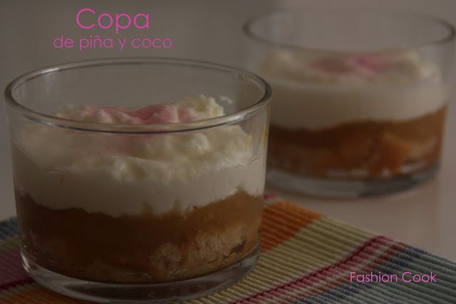 Fashion Cook: Copa de piña y coco