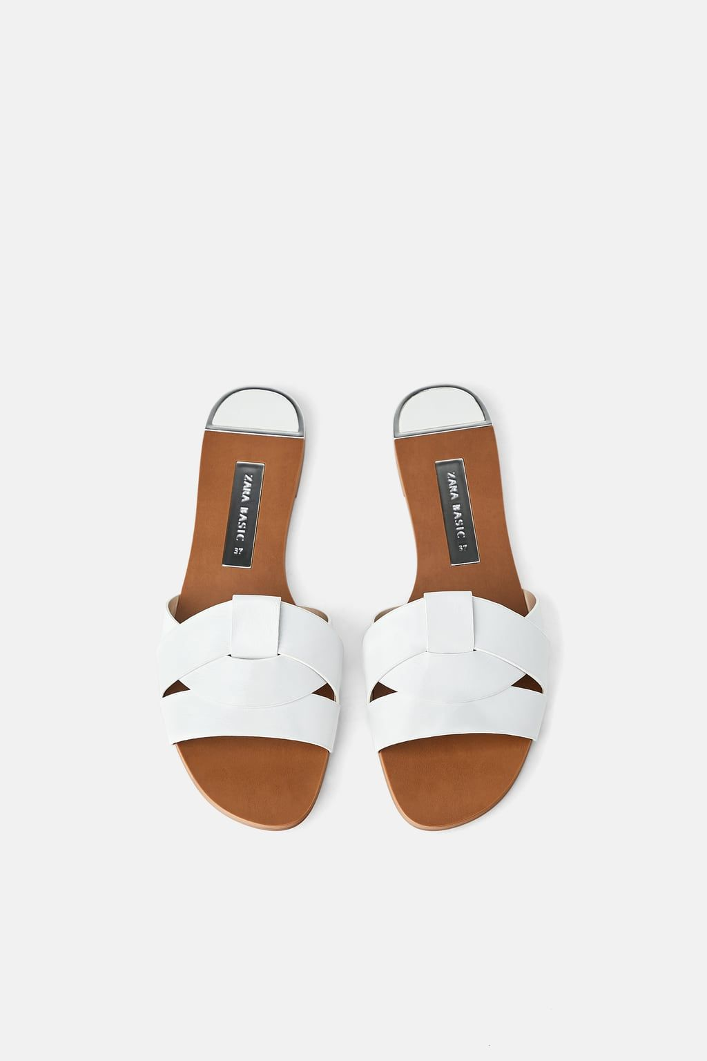 0a1905a3cb82c Flat leather criss-cross strap sandals in 2019   step   Leather ...