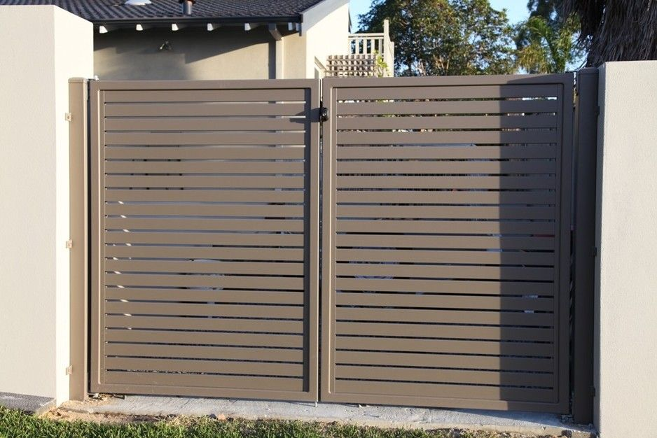 Aluminium Slat Gate In Colour Jasper Simply Slat Fencing
