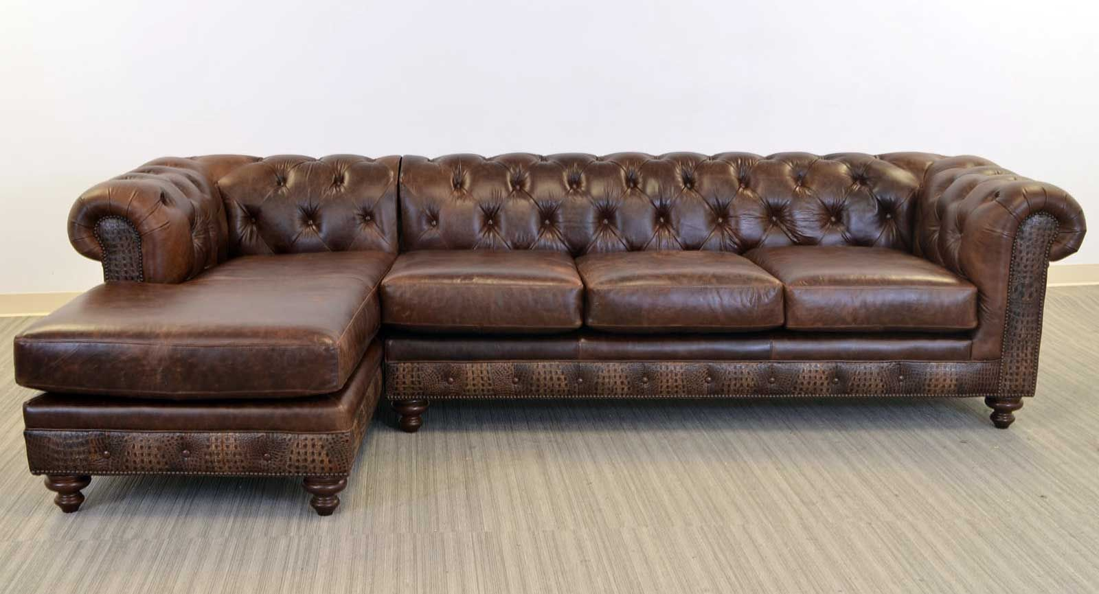 Kensington Sofa Chaise The Leather Sofa Company The Scalloped And