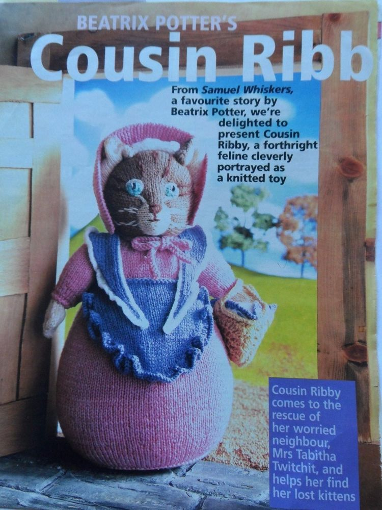Alan Dart Knitting Pattern Cousin Ribby Beatrix Potter Womans