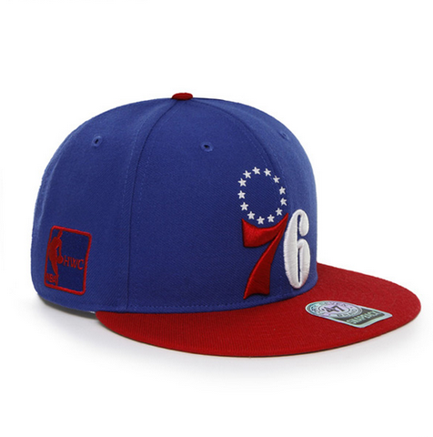 super popular 2ad61 d3f25 Philadelphia 76ers Blue and Red Snapback hat   Shibe Vintage Sports