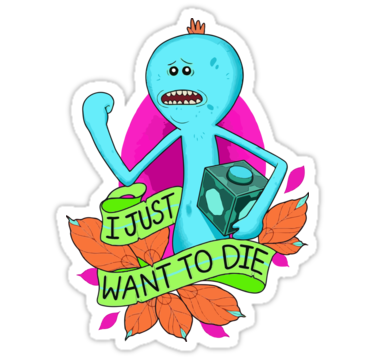 Rick and morty mr meeseeks sticker by diatomic