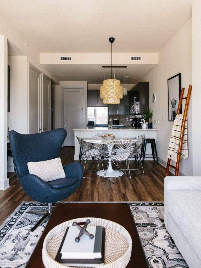 downtown austin piedáterre in 2020  condo living room