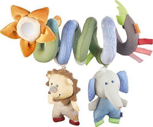 Infant Baby Crib Mobile Ornament Plush Animal Hanging Rattle Spiral Crib Hanging for Stroller Pram Ornament