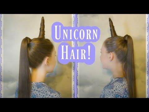 Unicorn Hairstyle For Halloween Or Crazy Hair Day Hairstyles For Girls Princess Hairstyles Wacky Hair Wacky Hair Days Kids Hairstyles
