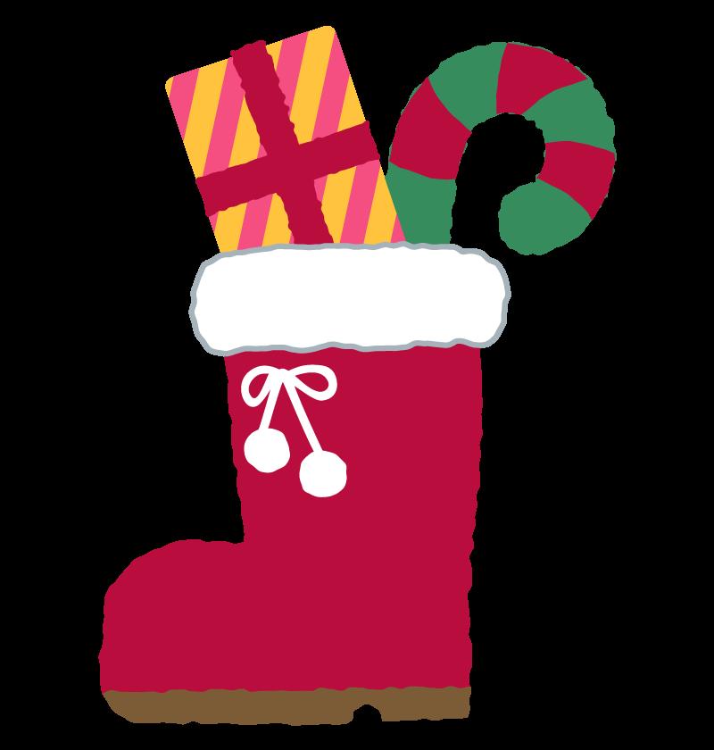 クリスマスブーツとプレゼントのイラスト 無料のフリー素材 フリー素材 クリスマスブーツ クリスマス