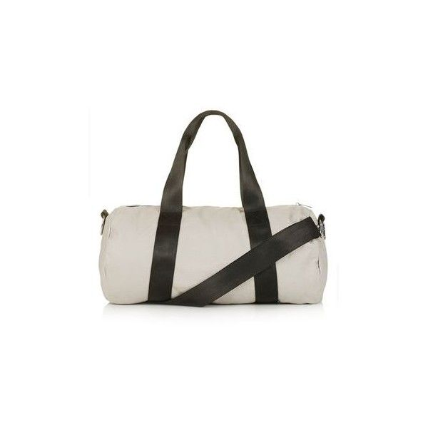 TopShop Canvas Luggage Bag (2,650 INR) ❤ liked on Polyvore featuring bags, luggage and grey