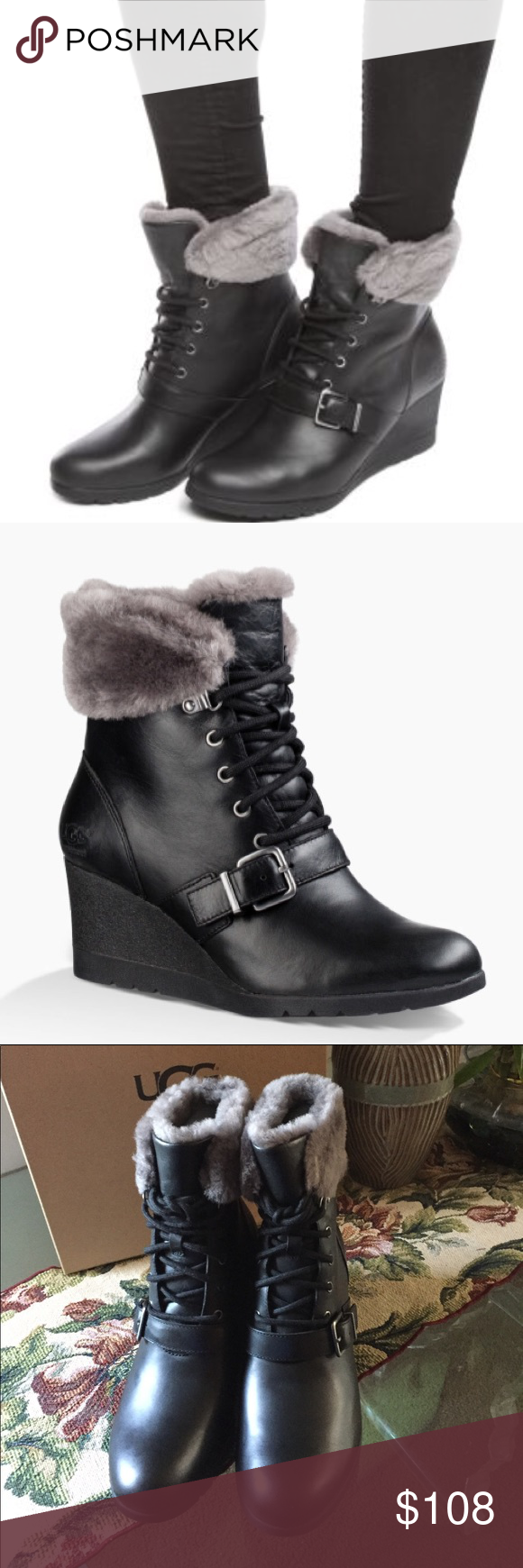b8199dd63be NEW UGG JANNEY. Model: 1012527 Don't let the rain dampen your ...